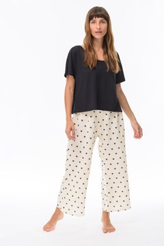 Imagen de Ada - Pijama Estampado de Estrellas Crudo