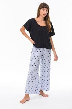 Imagen de Ada - Pijama Estampado de Estrellas Celeste