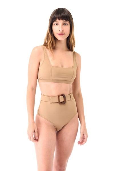 Imagen de Cancún - Bikini Tiro Alto con Cinto Leather
