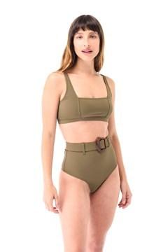 Imagen de Cancún - Bikini Tiro Alto con Cinto Verde