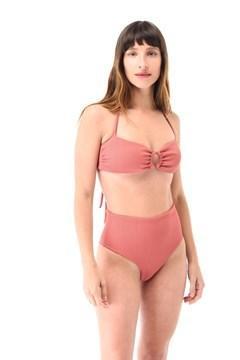Imagen de Chicago - Bikini Tiro Alto Bandeau Con Argolla Esponja